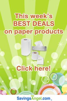 Scott, Puffs, and Bounty top the list of paper product deals this week http://savingsangel.com/blog/2016/07/20/scott-puffs-bounty-top-list-paper-product-deals/ #couponing #charmin