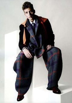 The Wecshel Schicht GQ Style Germany Editorial Embraces Volume #coats #mensfashion trendhunter.com