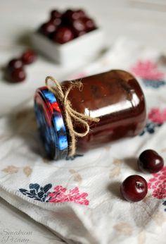 Czekowiśnia, czyli konfitura wiśniowa z czekoladą  by Smakiempisany Jars, Winter, Winter Time, Pots, Jar, Vases, Winter Fashion, Glass Jars, Mason Jars