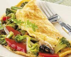 Omelette au brocoli, poivron et champignon : http://www.fourchette-et-bikini.fr/recettes/recettes-minceur/omelette-au-brocoli-poivron-et-champignon.html