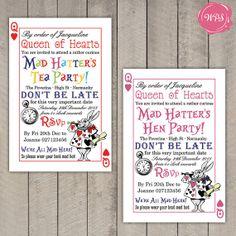 Alice in Wonderland  Mad Hatter's Tea Party by WeddingPlanningShop, $25.00