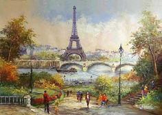 Paris ♥ Eiffel Tower ♥ Painting