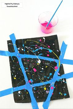 Inspire creative confidence in kids with this splatter art activity inspired by Disney's Tomorrowland! =