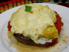 Curts Delectable Creations: Curt's Delectable Stuffed Breakfast Portabello Mushroom Recipe