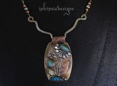 GARDEN OF OPAL ... Pendant Necklace with 3 by IntrinsicDesignsArt