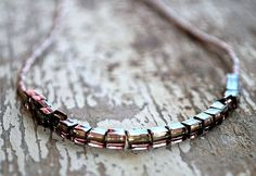 Pink Boho Layering Necklace Beaded Bohemian Jewelry by letemendia, $16.50