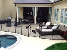 This Pool Fence is for the Puppies. Pets deserve to be safe too!
