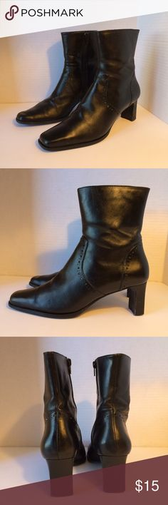 """Sudini Stunning Black Leather Boots Beautiful black leather above the ankle boots on good condition. Soles in great condition . Side zip closure with 2"""" heel Sudini Shoes Heeled Boots"""