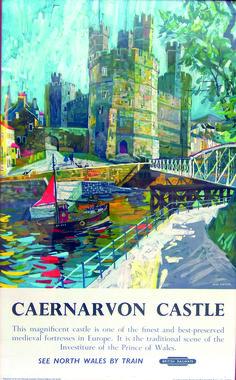 WALES Caernarvon Castle