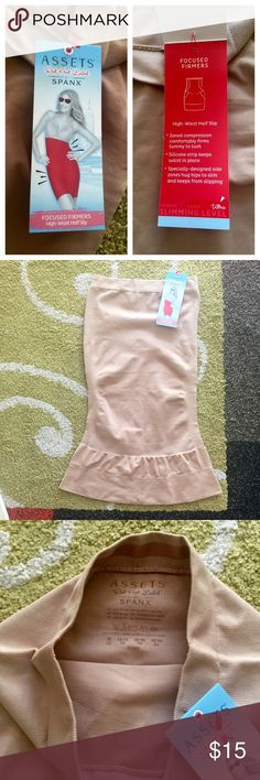 Assets SPANX High Waisted Half-Slip Focused Firmers. I needed a smaller size. Never worn. New with tags. SPANX Intimates & Sleepwear Shapewear