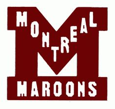 Montreal Maroons Alternate Logo (1925) - Maroon M with Montreal Maroons in white