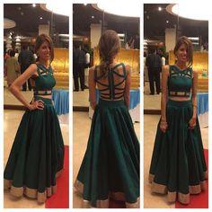 Beautiful silk lehenga with zardozi work made by sv elegance . Sari Blouse Designs, Choli Designs, Fancy Blouse Designs, Dress Indian Style, Indian Dresses, Indian Outfits, Indian Designer Outfits, Designer Dresses, Sexy Back