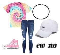 """""""Untitled #91"""" by carleelingard on Polyvore featuring J Brand, Converse, DaVonna and Vineyard Vines"""