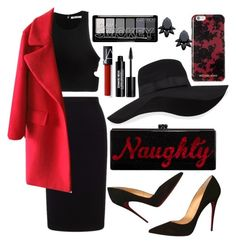 """""""Naughty"""" by naty2001 ❤ liked on Polyvore featuring Roland Mouret, T By Alexander Wang, Christian Louboutin, Edie Parker, San Diego Hat Co., NARS Cosmetics, Edward Bess, Michael Kors and Persy"""