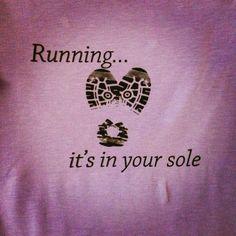 Running...It's in your sole - Running Shirt, Longsleeve Tech Shirt, Running Shirt, Wine Lovers, Women Running Shirt on Etsy, $18.00
