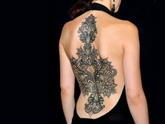 Full Back Lace Tattoos for Girls