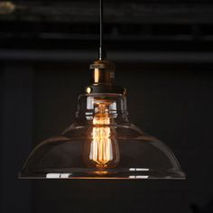 Modern Led Glass Pendant Ceiling Vintage Light by lightisgood