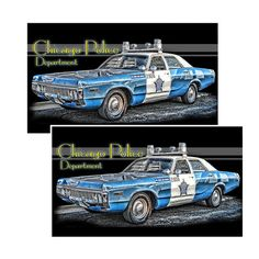"""Vintage Chicago Police Department Decal. Highly adhesive for outdoor and indoor use, produced in the USA by Brotherhood® Product, easy to apply, UV Protected, Size 3.75 x 1.90"""""""", Bright Vibrant Color,"""