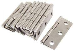 10 Pcs Folding Butt Hinges Silver Tone Hardware Furniture Door Hinge Home Tool #VNDEFUL