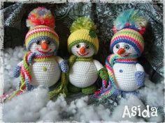 Schattige sneeuwpopjes