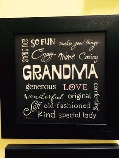 Everybody loves grandma! Show her you care with this adorable wall decor!  Heritage Gift Shop, $34.99. 8015821847  #grandmagift #love #iwantgrandma