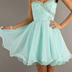 Mint Color Homecoming Dress✨