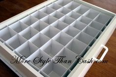 Make a Socks, Briefs, or Underwear Organizers from Bristol Board - More Style Than Cash
