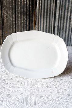 Vintage white ironstone platter by OliverandRust on Etsy, $22.00