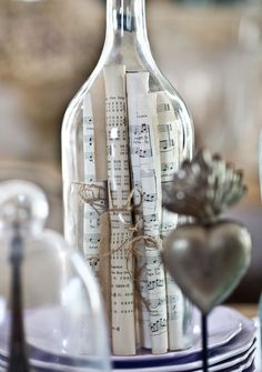 Tips on displaying collections l sheet music in bottle More