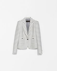 ZARA - WOMAN - SHORT STRIPED BLAZER - xs