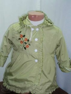 little girls raincoats pale green