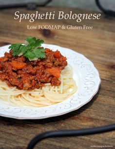 Spaghetti Bolognese - Gluten Free and Low FODMAP