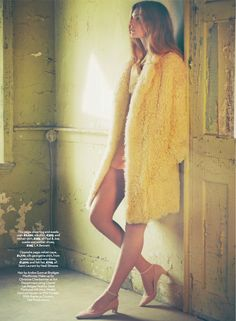 Psychedelic Shift: Gertrud Hansen By James Macari For Uk Marie Claire September 2014 / Misted Yellow