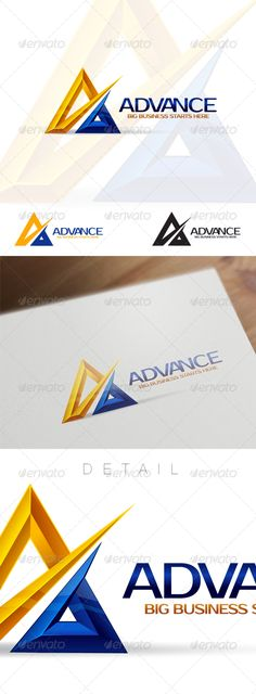 A Letter  Business and Corporate Logo — Vector EPS #blue #strong • Available here → https://graphicriver.net/item/a-letter-business-and-corporate-logo-/6156930?ref=pxcr