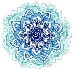Love this color blue, mandala tattoo. Seems like it incorporates aquarius sign. want on front of shoulder.