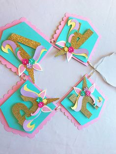 Thank you for viewing my shop!! Having a Unicorn themed party? This Name banner is the perfect decoration for a sweet girls magical themed party. _______________________________________________________________________________________________________ Each pennant is layered with