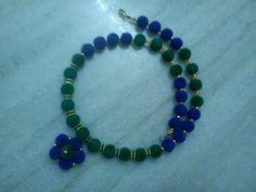 Velvet balls necklace