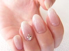 Innocent pink look. Elegant Nails, Classy Nails, Nude Nails, Manicure And Pedicure, Nail Polish Designs, Nail Art Designs, Nagel Hacks, Nails Only, Round Nails
