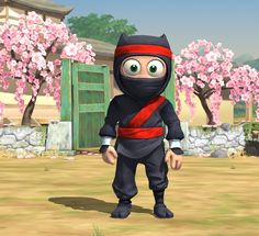 Clumsy Ninja app for iOS -- such a fun game app for kids.