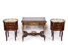 GROUP OF THREE WESTERN GILT FURNITURE : Lot 3246