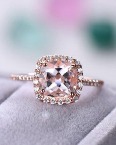 This pear engagement ring set is crafted in solid rose gold with a pear shaped moissanite set into a gorgeous basket setting on top of a diamond pebble band. The timeless and classic design of this white gold ring will make your engagement unforgettab Diamond Cluster Engagement Ring, Morganite Engagement, Morganite Ring, Gold Engagement Rings, Diamond Wedding Bands, Wedding Engagement, Diamond Rings, Bridal Rings, Wedding Rings