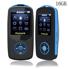 Cheap ChenFec Portable Mini HIFI Music 16GB MP3 Player Bluetooth Sport Wireless Running Max Support 64GB with Multifunction E-Book Digital Recording Game Blue Best Selling
