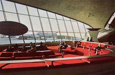 eero saarinen twa terminal    i like color in architecture!