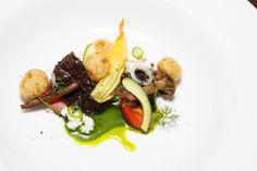"""Chochoyotes con requeson y hongos Silvestres / Chef Enrique Olvera ©El Saber del Sabor"""" / Diana Plascencia"""