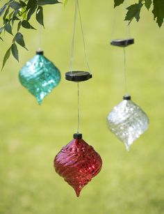 Hanging Onion Solar Ornament from Gardeners Supply.