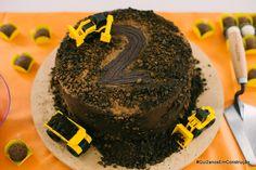 Construction party cake bolo construçao