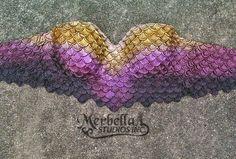 *Pre made. Ready to ship  Very comfy alternative to shells bras    Bra based  Merbella scales.  Size: 38B  Colors: Gold, Burgandy, purple & black