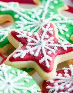 Add these Cutout Cream Cheese Sugar Cookies to your holiday baking plans #christmascookies #sugarcookies #bestsugarcookies #creamcheesecookies #cookierecipes #holidayrecipes #holidaybaking #creamcheesecookies #holidays #cookieswap #desserts #dessertfoodrecipes #southernrecipes #southernfood #melissassouthernstylekitchen Best Christmas Cookie Recipe, Christmas Sugar Cookies, Holiday Cookies, Christmas Baking, Holiday Baking, Christmas Treats, Christmas Desserts, Cream Cheese Sugar Cookies, Best Sugar Cookies