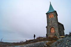 King Oscar II's Chapel - built in 1869 in Finnmark, Norway
