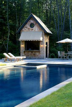 Ike, Kligerman and Barkley - cute pool hut